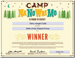 Camp winner cert1